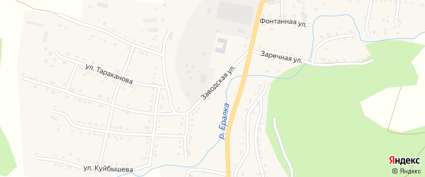 Заводская улица на карте Сима с номерами домов