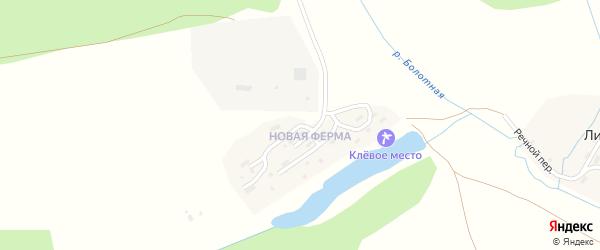 Полевая улица на карте деревни Липовой I с номерами домов