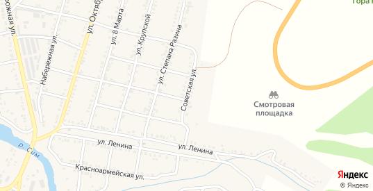 Советская улица в Симе с номерами домов на карте. Спутник и схема онлайн