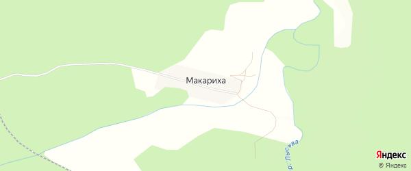 Карта деревни Макарихи города Чусового в Пермском крае с улицами и номерами домов