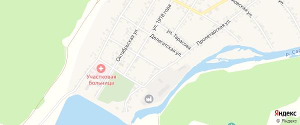 Улица Шипулина на карте поселка Сарана Свердловской области с номерами домов