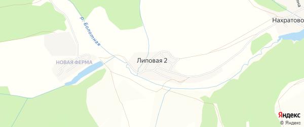 Карта деревни Липовой I города Лысьвы в Пермском крае с улицами и номерами домов