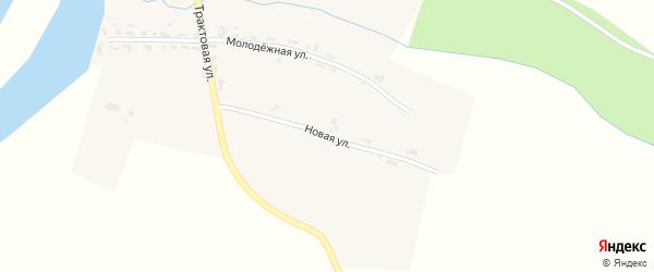 Новая улица на карте деревни Агафонково Пермского края с номерами домов