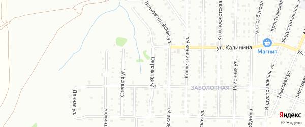Овражная улица на карте деревни Липовой I с номерами домов