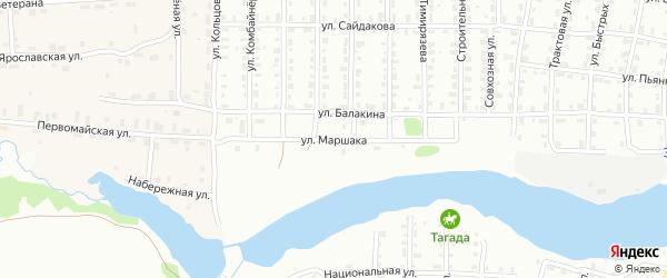 Улица Маршака на карте Лысьвы с номерами домов
