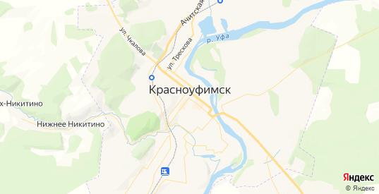 Карта Красноуфимска с улицами и домами подробная. Показать со спутника номера домов онлайн