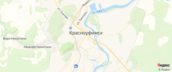 Карта Красноуфимска с районами, улицами и номерами домов: Красноуфимск на карте России