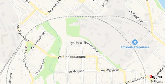 Улица Р.Люксембург в Красноуфимске с номерами домов на карте. Спутник и схема онлайн