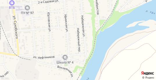 Набережный переулок в Красноуфимске с номерами домов на карте. Спутник и схема онлайн
