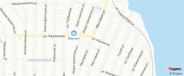 Мысовая улица на карте Лысьвы с номерами домов