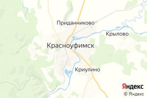 Карта г. Красноуфимск Свердловская область