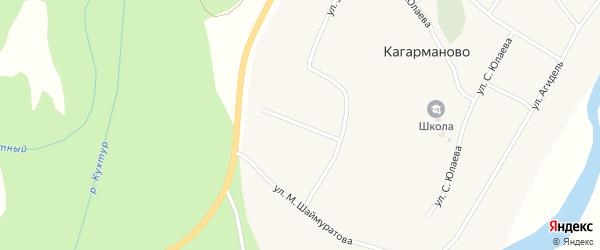 Улица А.Мубарякова на карте деревни Кагарманово с номерами домов