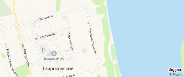 Улица Горького на карте Широковского поселка с номерами домов