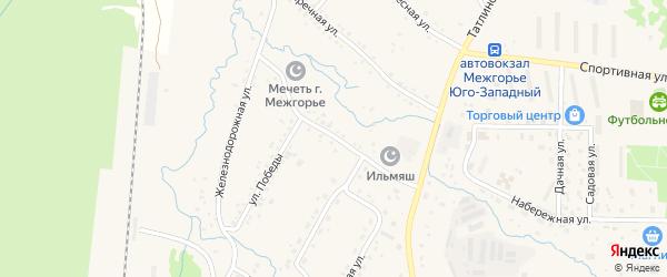 Центральная улица на карте Межгорья с номерами домов