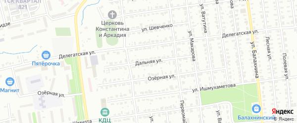 Дальняя улица на карте Лысьвы с номерами домов