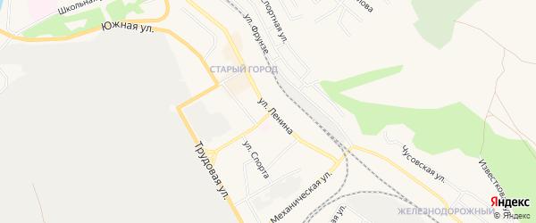 Карта деревни Мичурино города Чусового в Пермском крае с улицами и номерами домов
