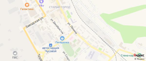 Сад Политехник на карте Чусового с номерами домов