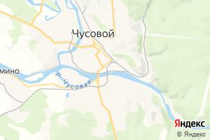 Карта г. Чусовой Пермский край