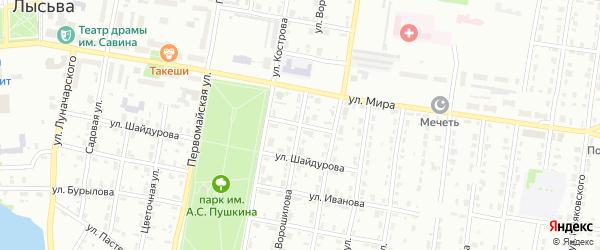 Улица Планеристов на карте деревни Липовой I с номерами домов