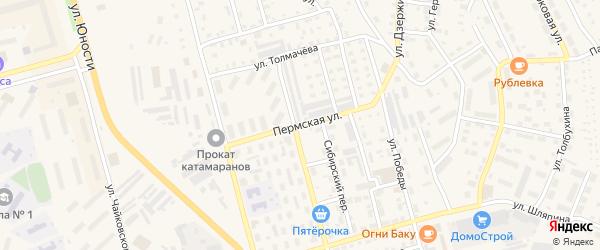 Пермская улица на карте Чусового с номерами домов