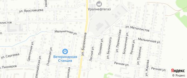 Лесная улица на карте Лысьвы с номерами домов
