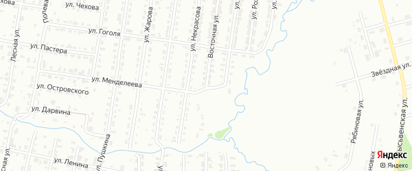 Восточная улица на карте Лысьвы с номерами домов