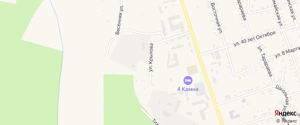 Улица Крылова на карте Гремячинска с номерами домов