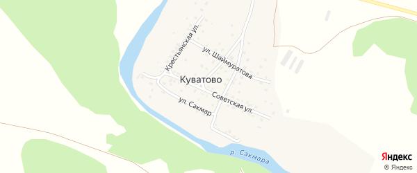 Улица Кугарчен на карте деревни Куватово с номерами домов