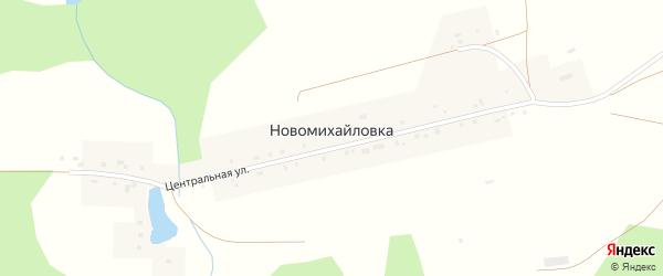 Береговая улица на карте деревни Новомихайловки с номерами домов