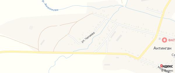Улица Чапаева на карте села Антингана Башкортостана с номерами домов