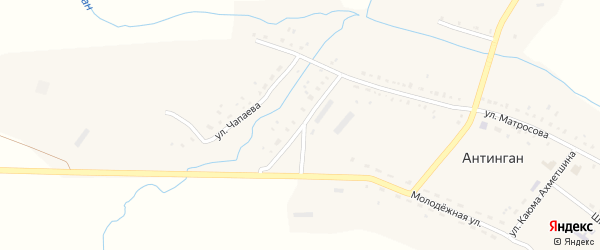 Улица Заки Валиди на карте села Антингана Башкортостана с номерами домов