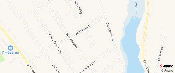 Улица Фрунзе на карте поселка Ачит Свердловской области с номерами домов