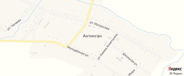 Речная улица на карте села Антингана с номерами домов