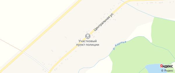 Центральная улица на карте села Вознесенки с номерами домов