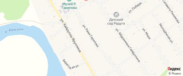 Улица Рами Гарипова на карте села Аркаулово с номерами домов