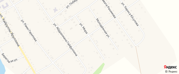 Улица Мира на карте села Аркаулово с номерами домов