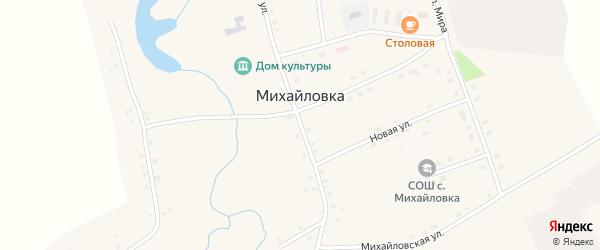 Михайловская улица на карте села Михайловки Башкортостана с номерами домов