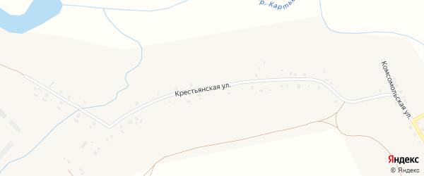Крестьянская улица на карте села Ярославки Башкортостана с номерами домов