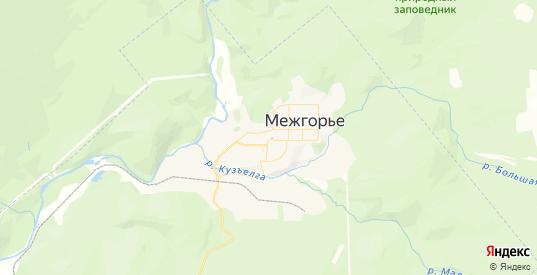 Карта Межгорья с улицами и домами подробная. Показать со спутника номера домов онлайн
