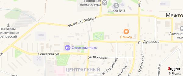 Белорецкая улица на карте Межгорья с номерами домов