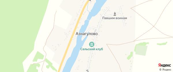 Улица Миндигула на карте деревни Азнагулово с номерами домов
