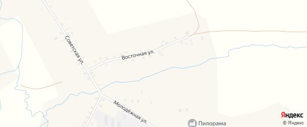 Восточная улица на карте села Ярославки Башкортостана с номерами домов