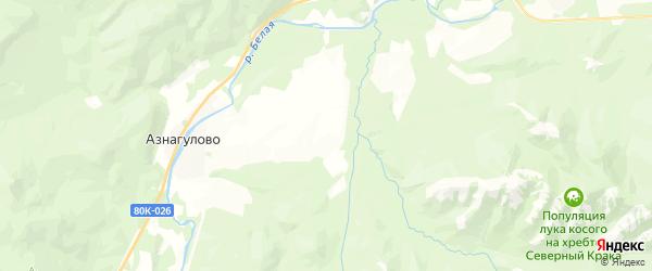 Карта Серменевского сельсовета Республики Башкортостана с районами, улицами и номерами домов