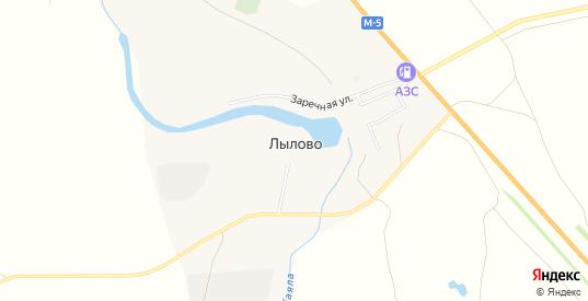 Карта поселка Лылово в Гае с улицами, домами и почтовыми отделениями со спутника онлайн
