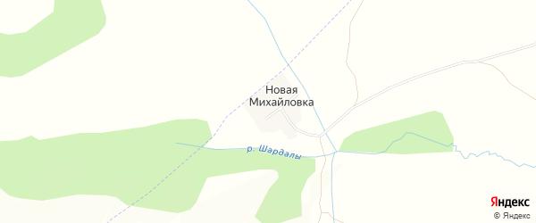 Карта деревни Новой Михайловки в Башкортостане с улицами и номерами домов