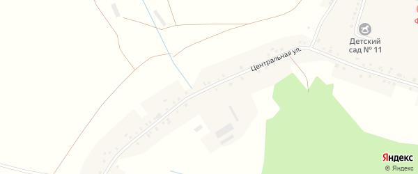 Центральная улица на карте села Озера с номерами домов