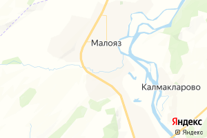 Карта с. Малояз