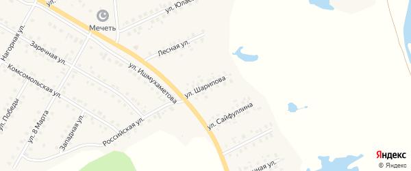 Улица Р.Шарипова на карте села Малояза с номерами домов