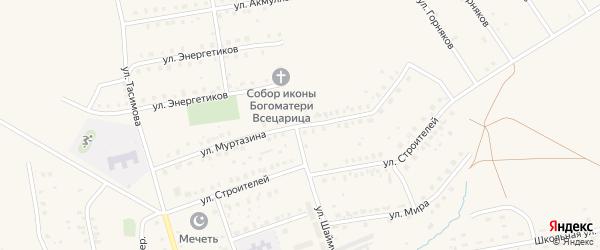 Улица Муртазина на карте села Бурибая с номерами домов