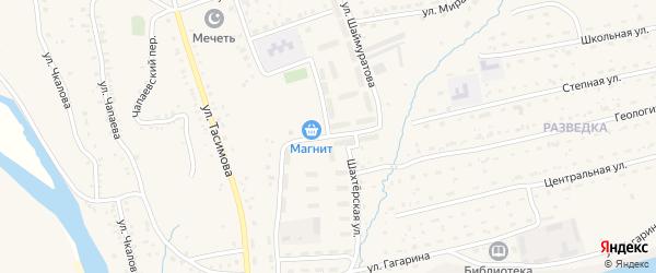 Улица Шаймуратова на карте села Бурибая с номерами домов